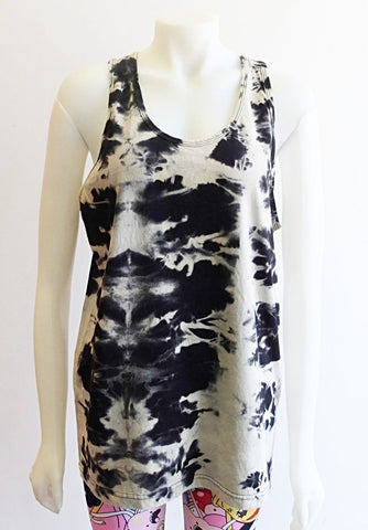 KT KIlgour For Blim Shibori Devore Bleach out Tanks