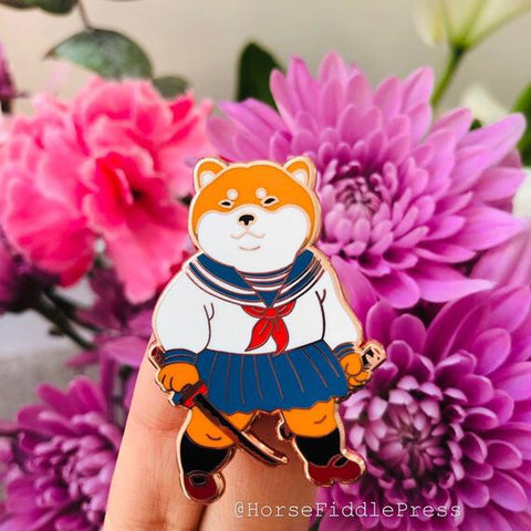 Shiba School Girl by Horse Fiddle Press
