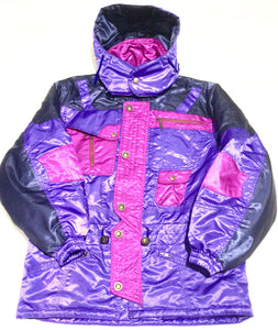 Plus Joyful Vintage Purple Parka
