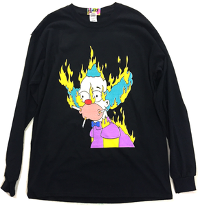 Long Sleeve Krusty on Fire T