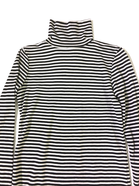 Black and White Striped Turtleneck