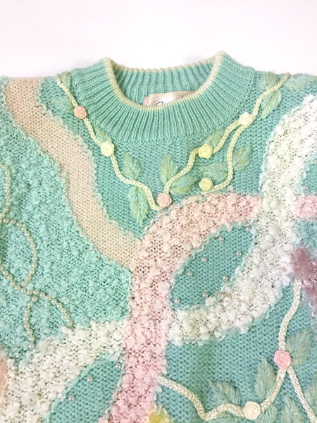 Jacklyn Smith Vintage Seafoam Green Sweater
