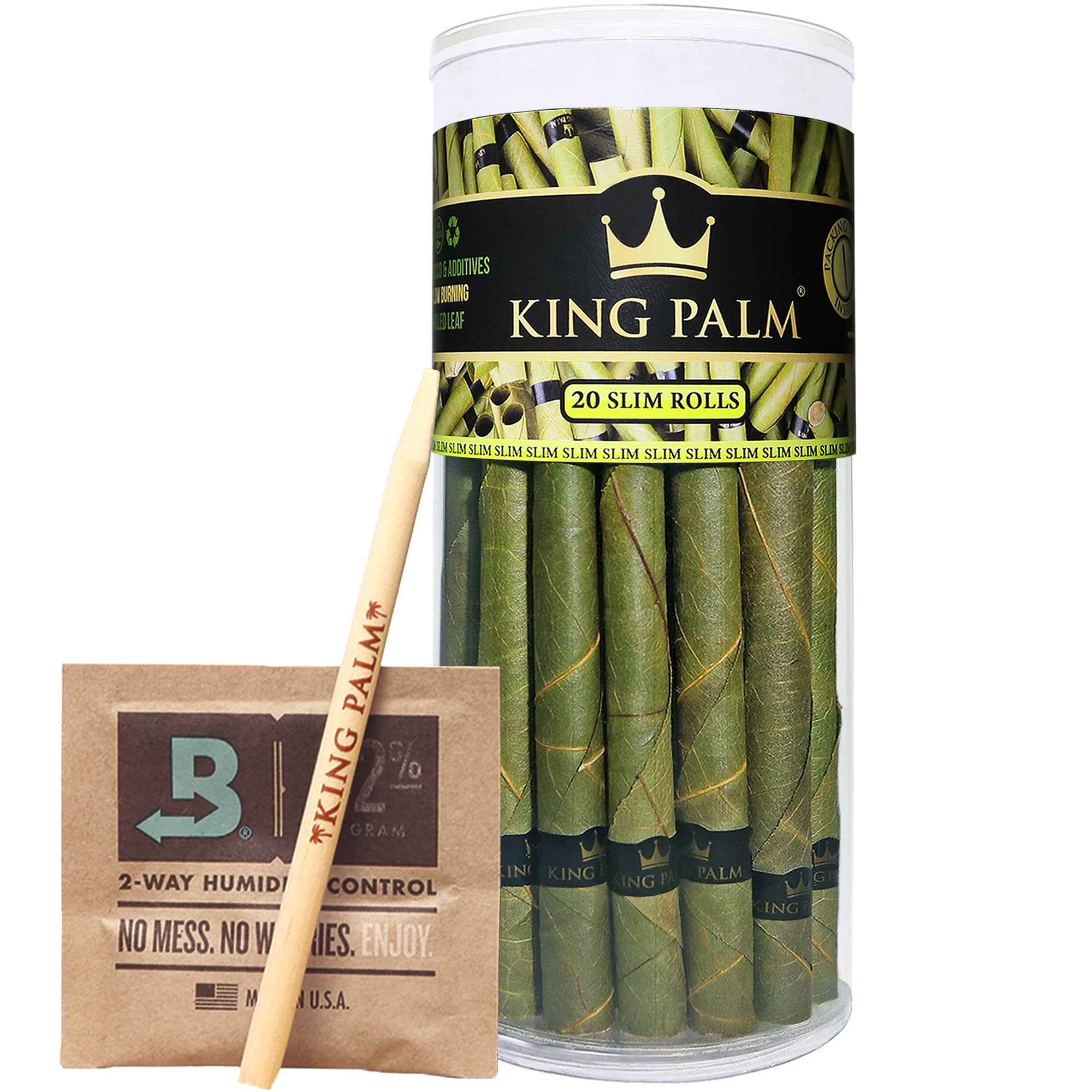 King Palm Slim Size Prerolled Palm Leafs (20 Pack)
