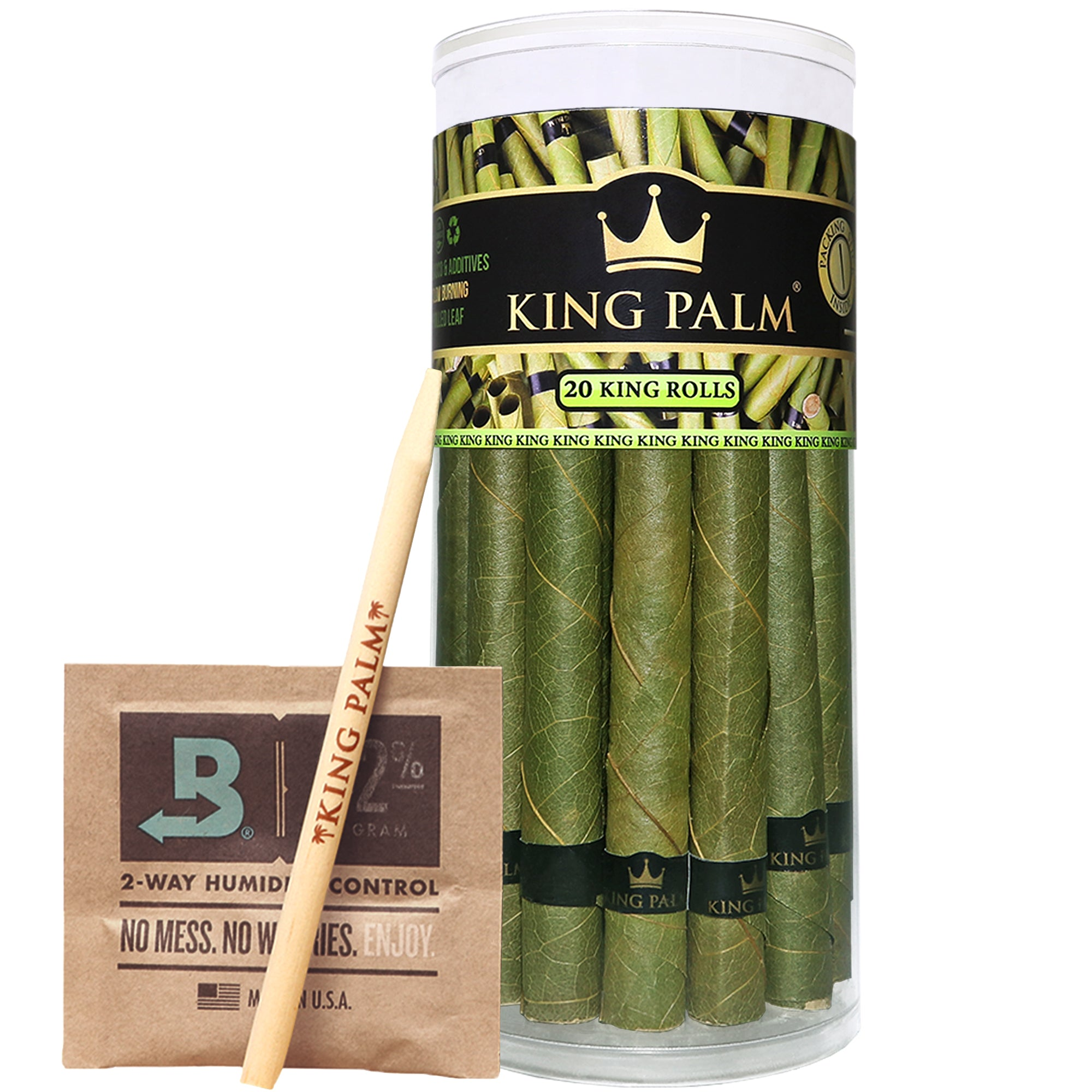 King Palm King Size Prerolled Palm Leafs (20 Pack)