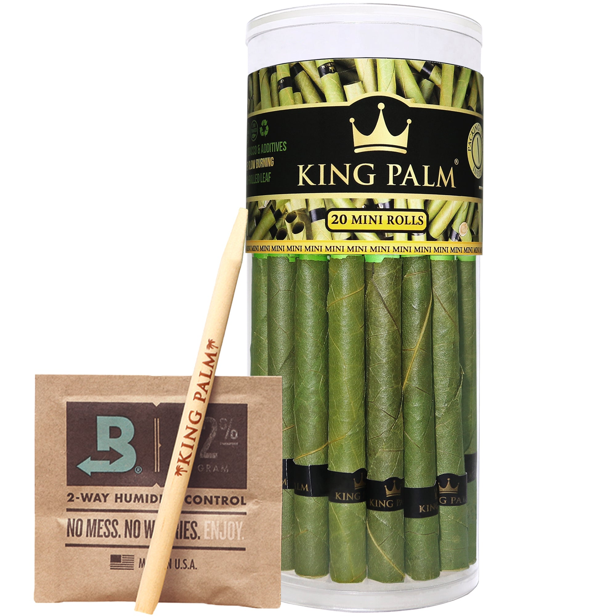 King Palm Mini Size Prerolled Palm Leafs (20 Pack)