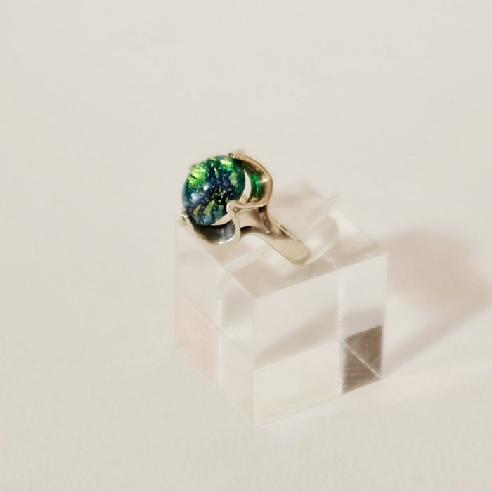 Found Opal Flower Ring