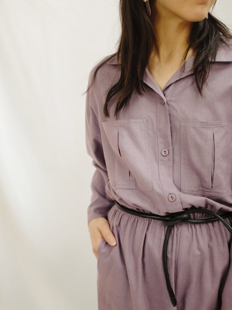 Vintage Iris Raw Silk Jumpsuit