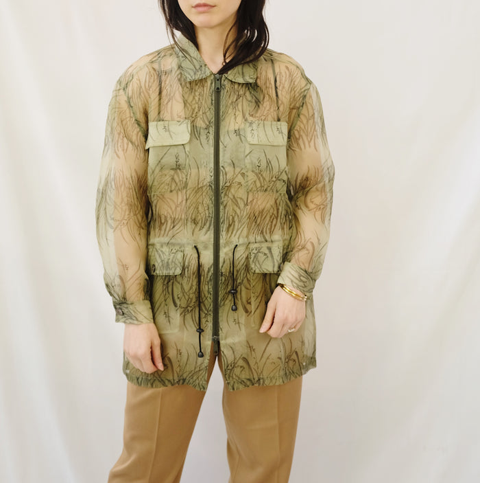 Vintage Sheer Fern Silk Jacket