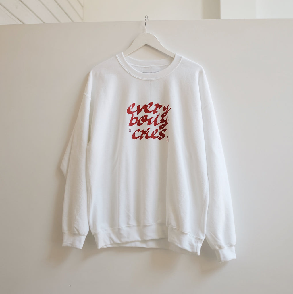 Ode 'every body cries' Crewneck