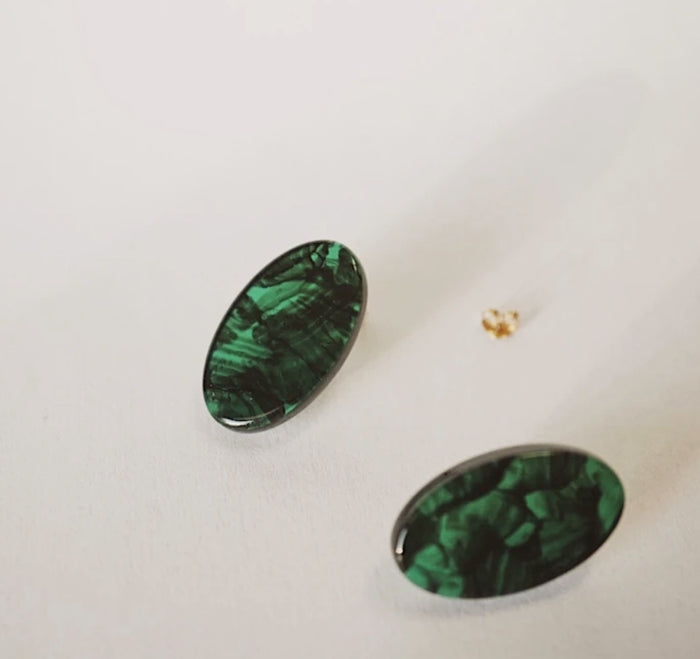 Foe & Dear: Emerald Claudia Studs