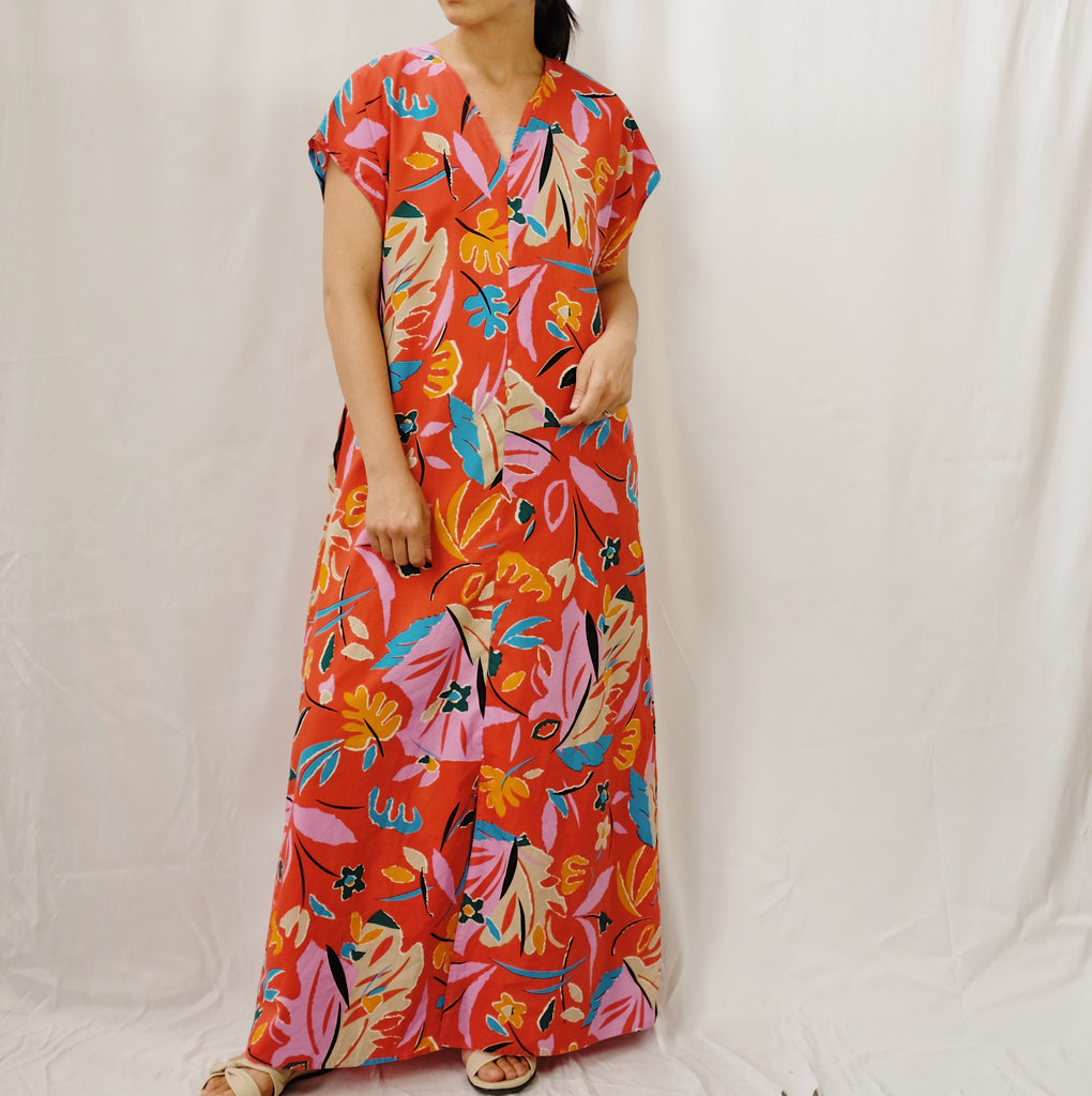 Vintage Tropical Dress