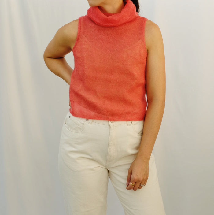 Vintage Watermelon Mohair Top