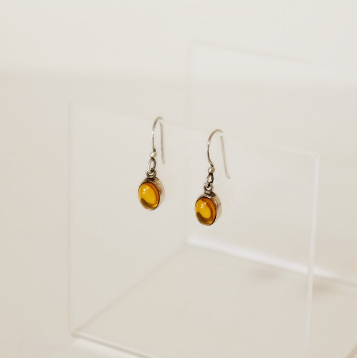 Found Delicate Amber Drop Earrings