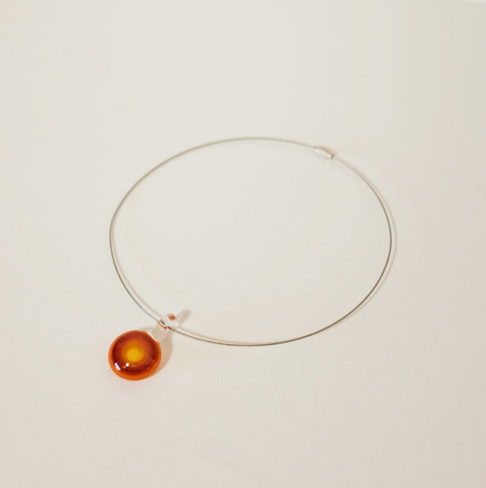 Found Sunrise Blown Glass Choker