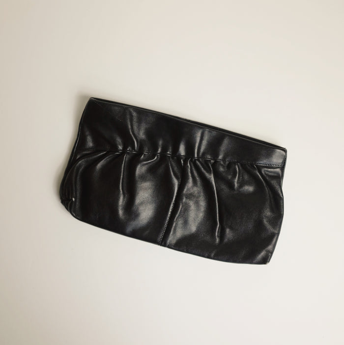 Vintage Onyx Leather Pouch