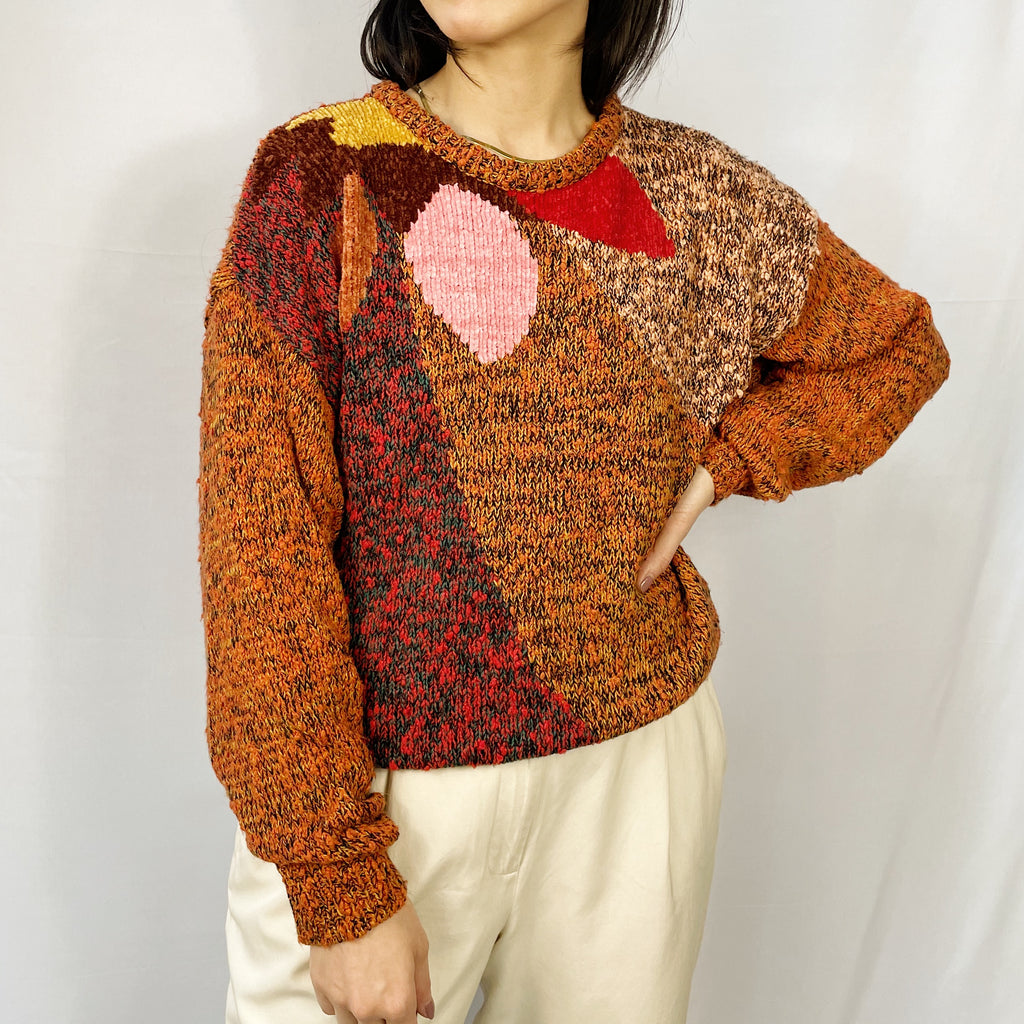 Vintage Multi-Colour Abstract Sweater