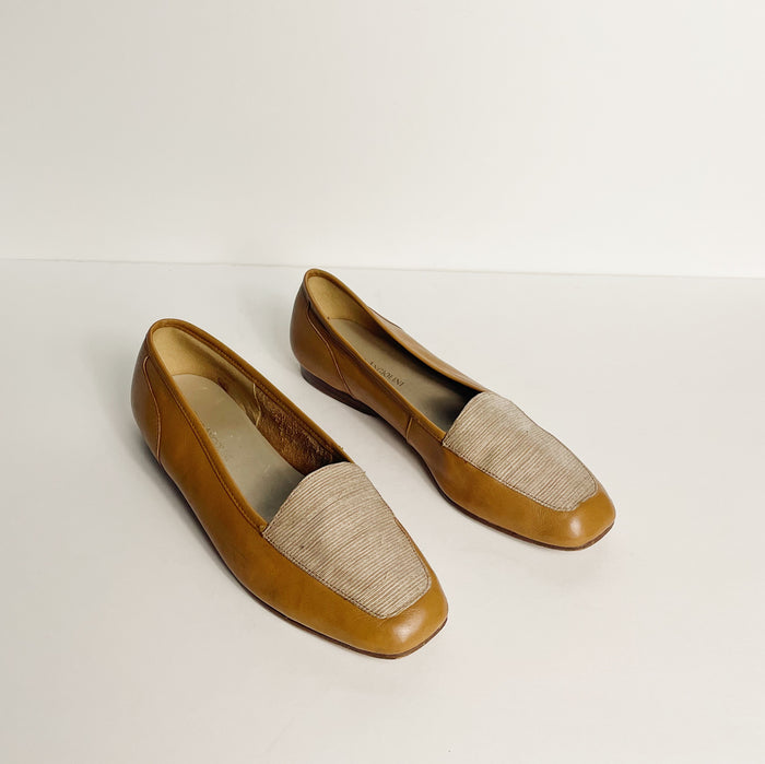 Vintage Tan Leather Flats | Size 7.5