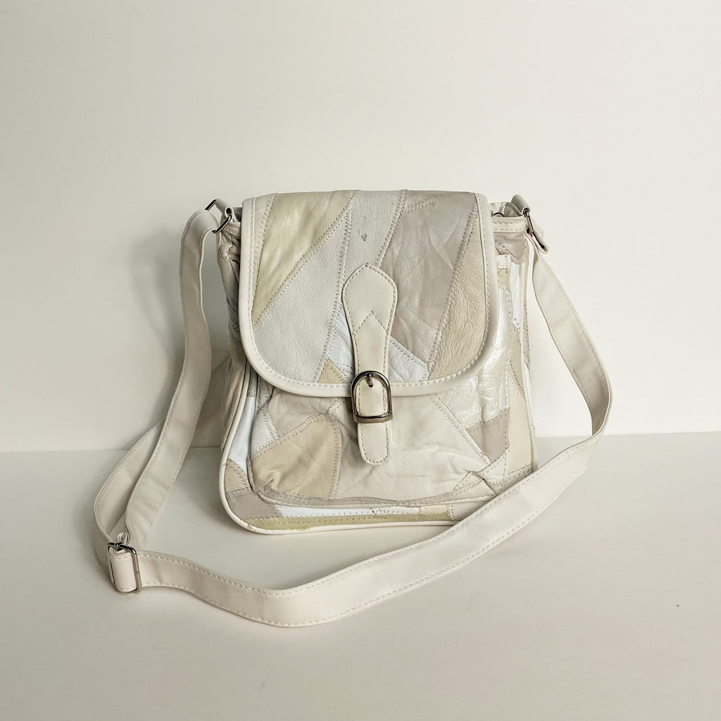 Vintage Pearl Patchwork Leather Bag