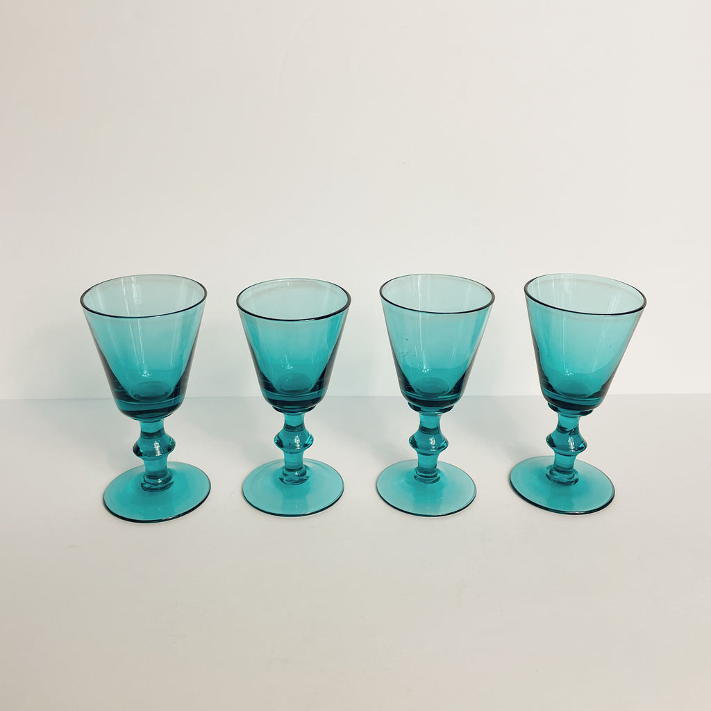Teal Ornate Sipper Glasses