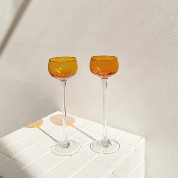 Tangerine Grappa Glasses