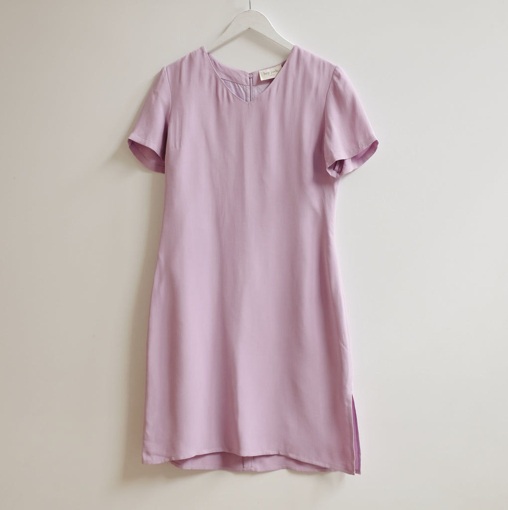 Vintage Lavender Brushed Silk Dress