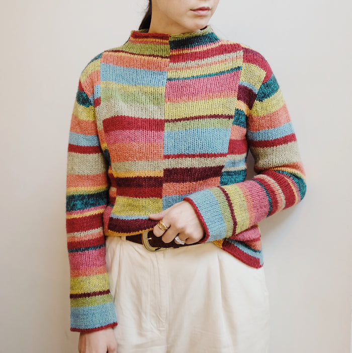 Vintage Multi-Colour Knit Mockneck