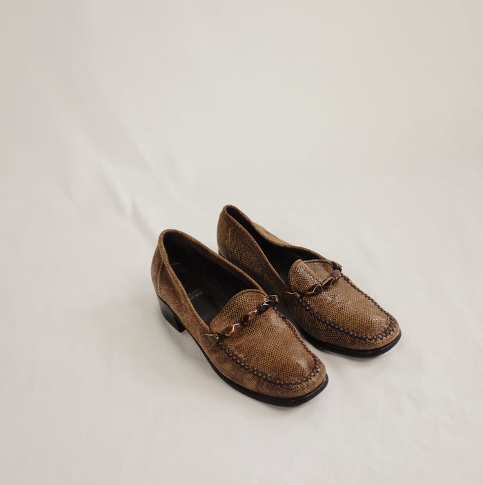 Vintage Alligator Loafers