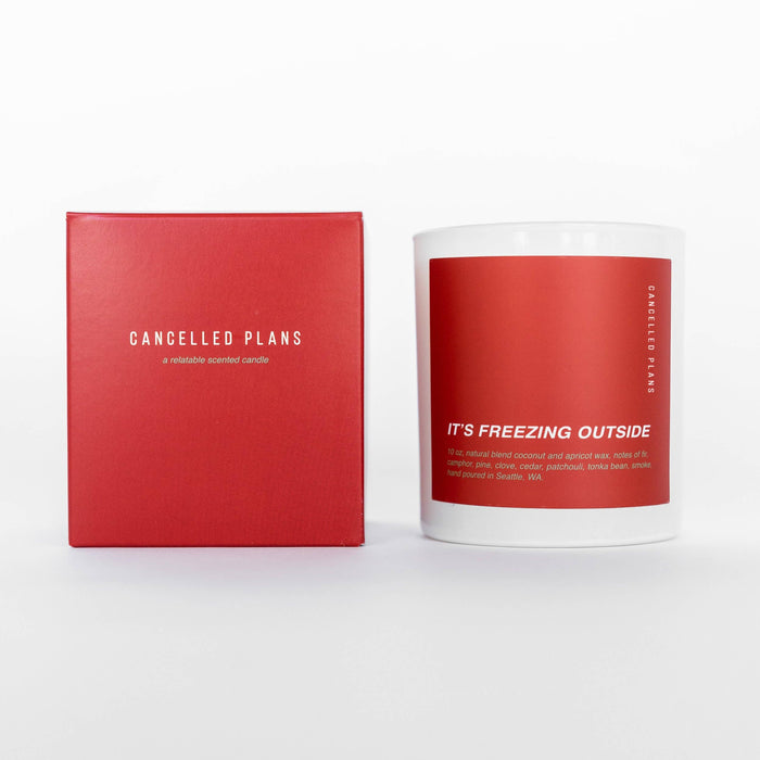 Cancelled Plans - It's Freezing Outside Candle