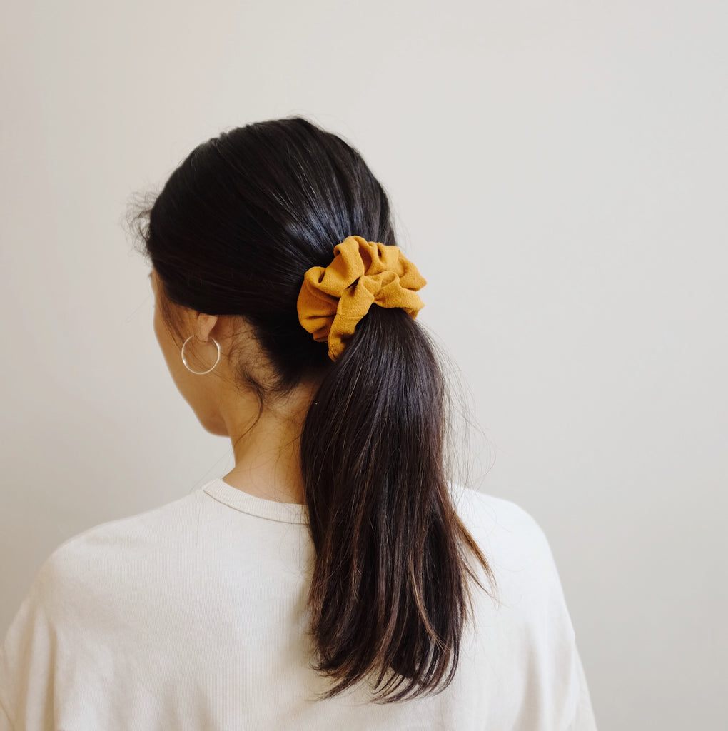 Raw Silk Hair Scrunchies