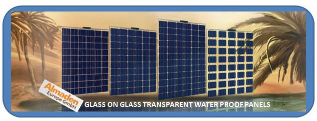 Almaden Glass On Glass Solar Panels