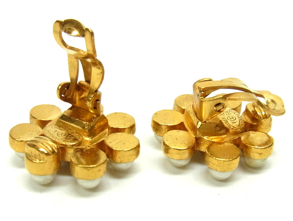 Chanel Coco Gold/Pearl Earrings