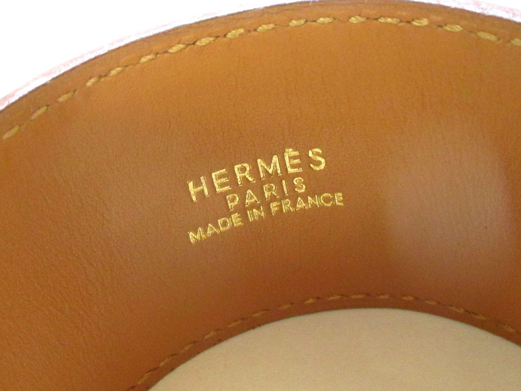 HERMES Bracelet Collier de Chien  Epsom Leather-Red
