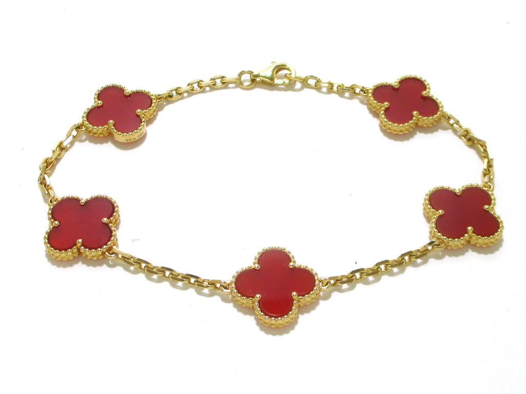 bracelet alhambra en us view cleef arpels front motifs collections vintage van jewelry
