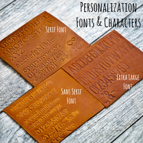personalized luggage tag font