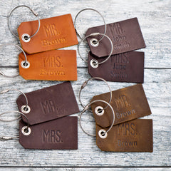 personalized luggage tag mr and mrs
