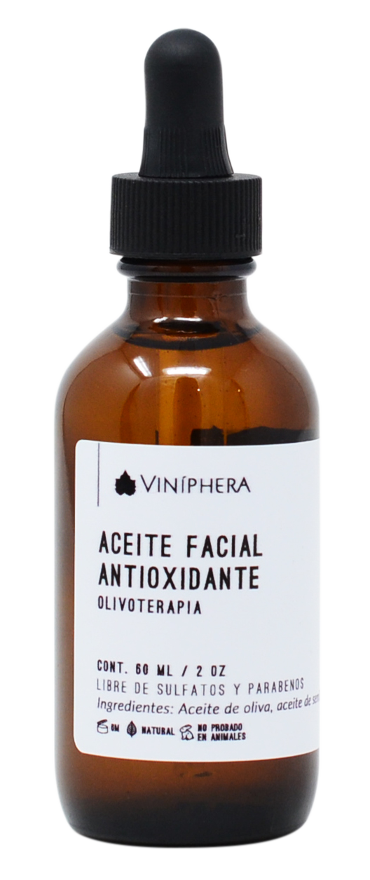 Aceite facial antioxidante de Olivoterapia 60ml/2oz