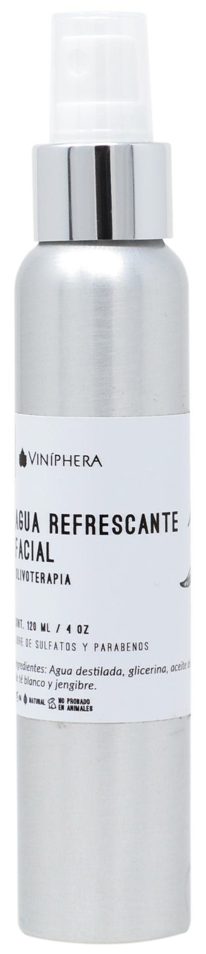 Agua Refrescante Facial De Olivo Terapia 120ml/4 oz. (Botella Plata)