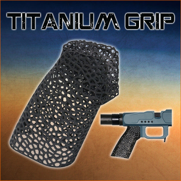 TYR 3D Printed Titanium Grip for Long Range Precision Rifle Chassis Systems
