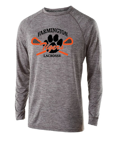 Farmington Lacrosse Long Sleeve Shirt (Grey) -- Men's Ladies and Youth