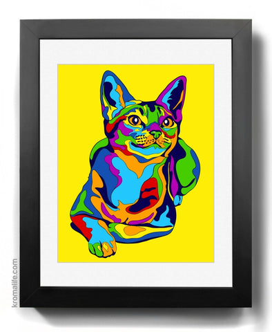 Abyssinian Cat Art Print
