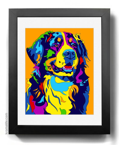 Bernese Mountain Dog (Berner Sennenhund) Art Print