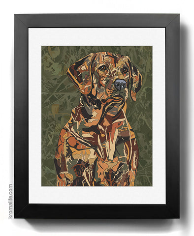 Labrador Retriever Camo Art Print