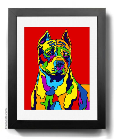 American Pit Bull Terrier (cropped) Art Print