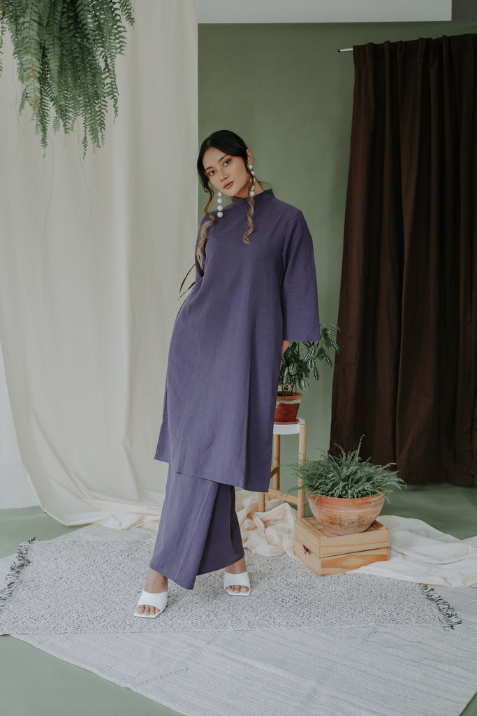 Maya Kaftan Kurung | Midnight Blue