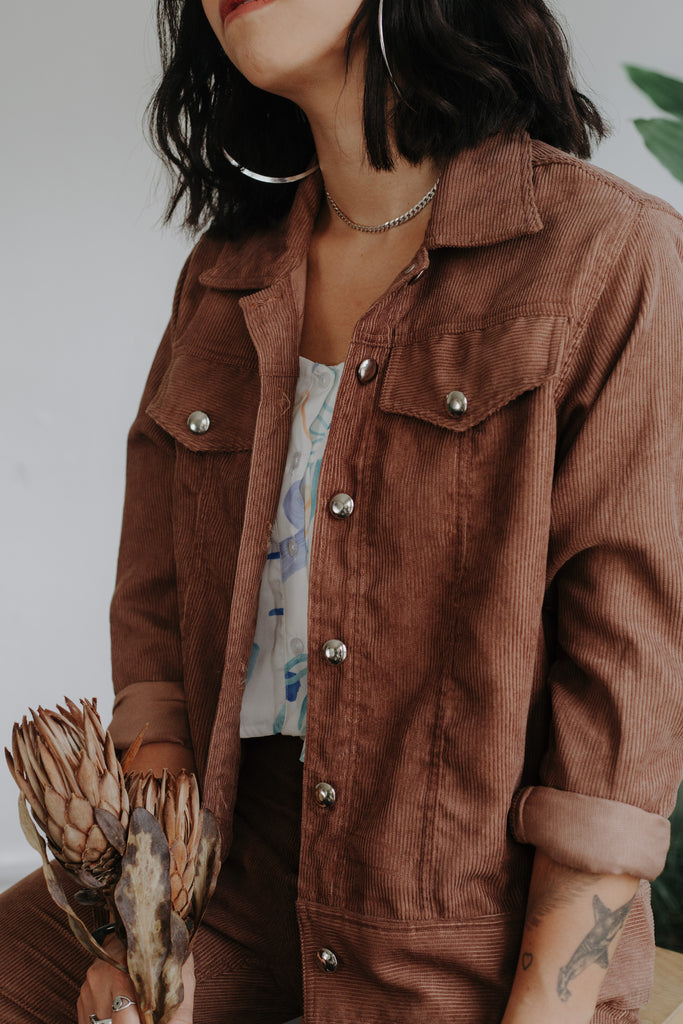 Corduroy Jacket - Brown