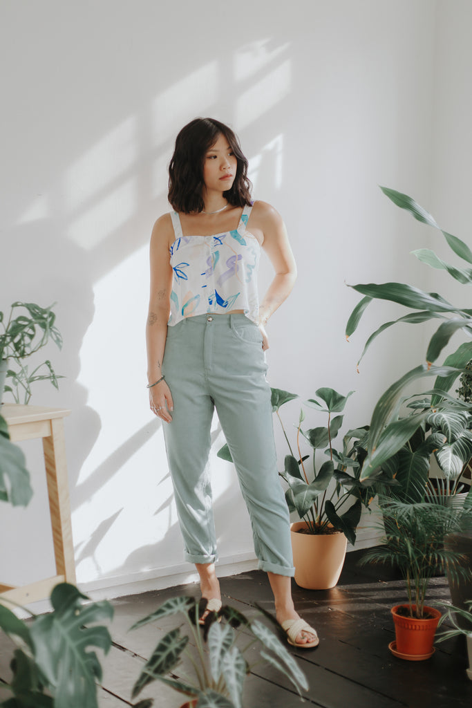 Corduroy Pants - Mint