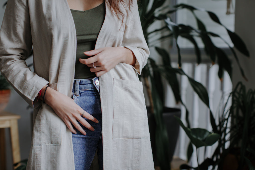Kayla Long Cardigan | Beige