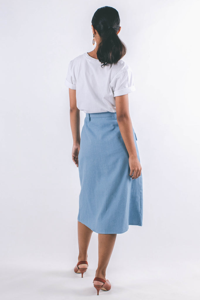 Macy Skirt | Light Denim