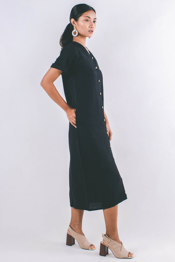 Ayla Shirt Dress | Black