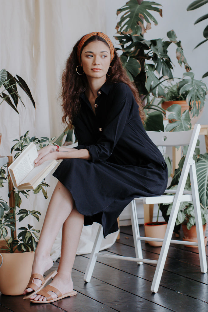 Diane Shirt Dress | Charcoal